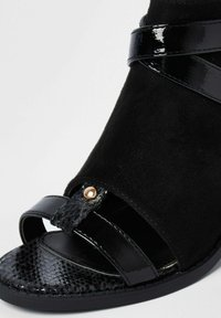 River Island - Ankle strap ballet pumps - black - 3
