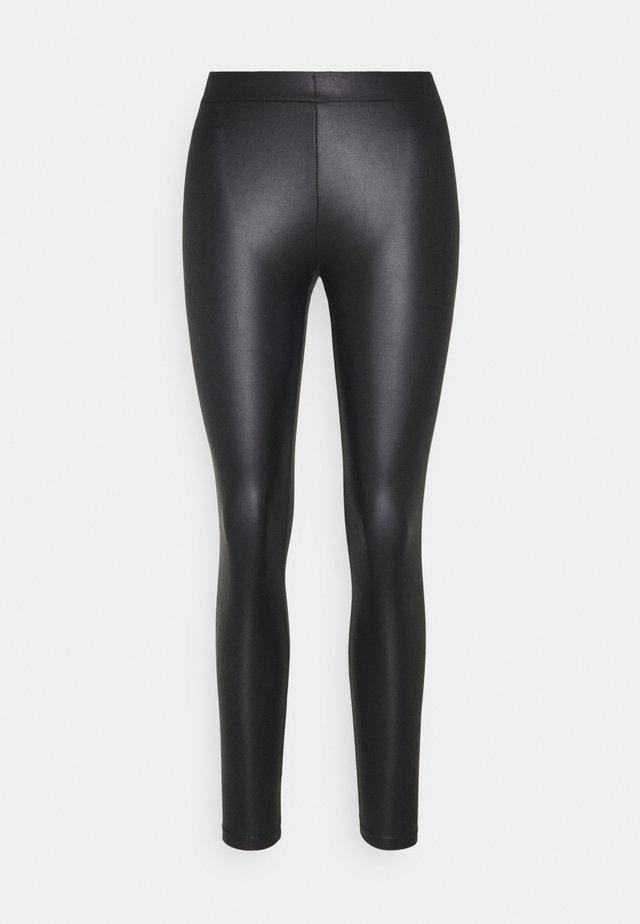 PCNEW SHINY - Leggings - Trousers - black