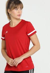 adidas Performance - TEAM 19 - Print T-shirt - power red/white - 0