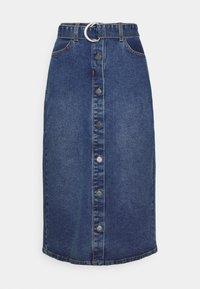 Object - OBJJADA SKIRT  - Pencil skirt - medium blue denim - 0