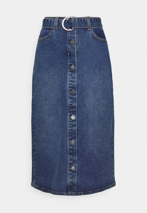 OBJJADA SKIRT  - Pencil skirt - medium blue denim