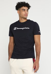 Champion - CREWNECK  - Print T-shirt - dark blue - 0