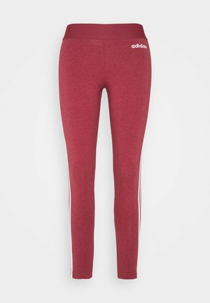 Tights - bordeaux/white