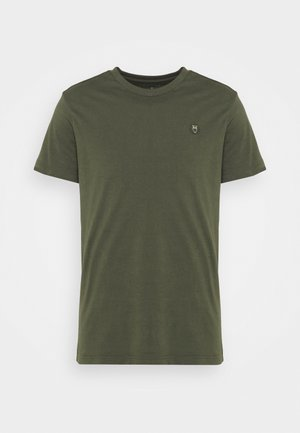 ALDER OWL BADGE - Basic T-shirt - forest night