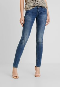 ONLY - ONLCORAL SUPERLOW - Jeansy Skinny Fit - dark blue denim - 0