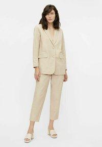 Object - Leather jacket - beige - 1