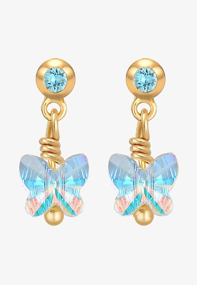 GLASS CRYSTAL - Ohrringe - blau