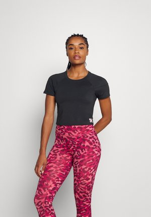 CROPPED  - T-shirts med print - anthrazit