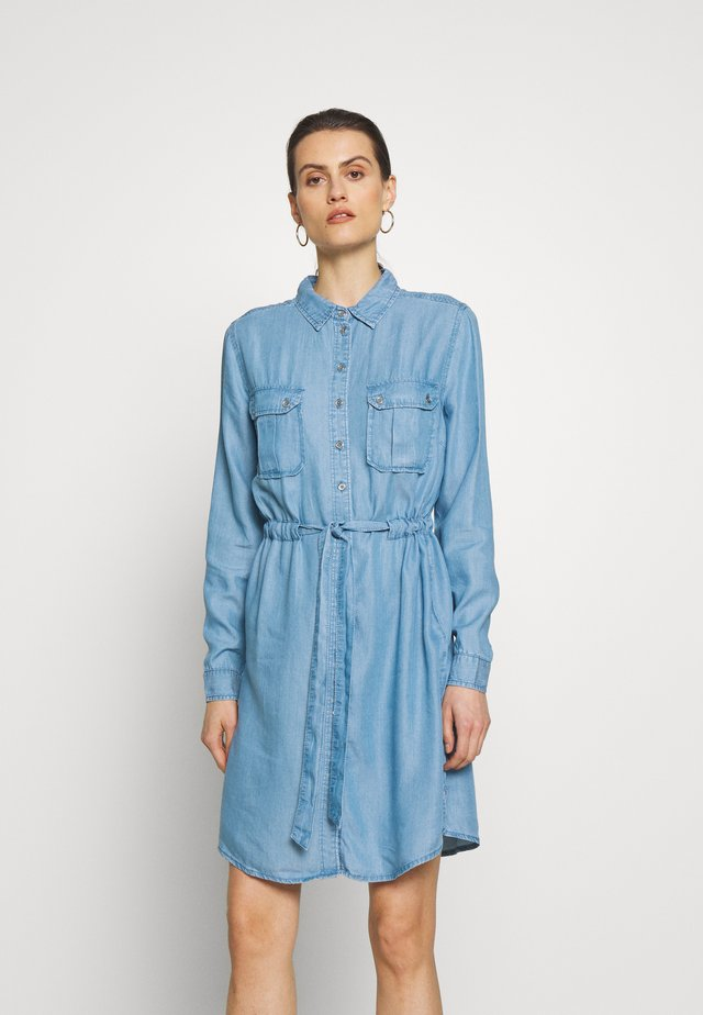 VESTIDO - Denim dress - medium blue