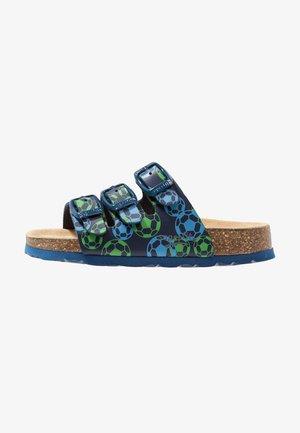 FUSSBETTPANTOFFEL - Slippers - ocean/multicolor