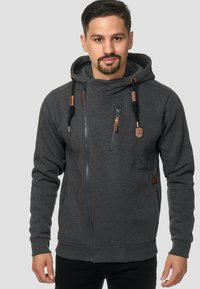 INDICODE JEANS - ELM - Zip-up hoodie - charcoal - 0