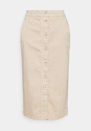 DINDI - Denim skirt - beige