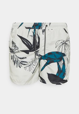 JJIBALI  JJSWIMSHORTS MONET - Swimming shorts - oatmeal