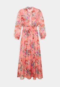 Missguided - FLORAL SHIRRED WAIST PLUNGE COVER UP - Strandaccessoire - pink - 1