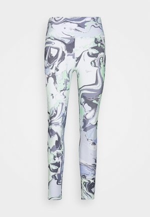 MARBLE PRINT HIGH WAIST - Leggings - spearmint