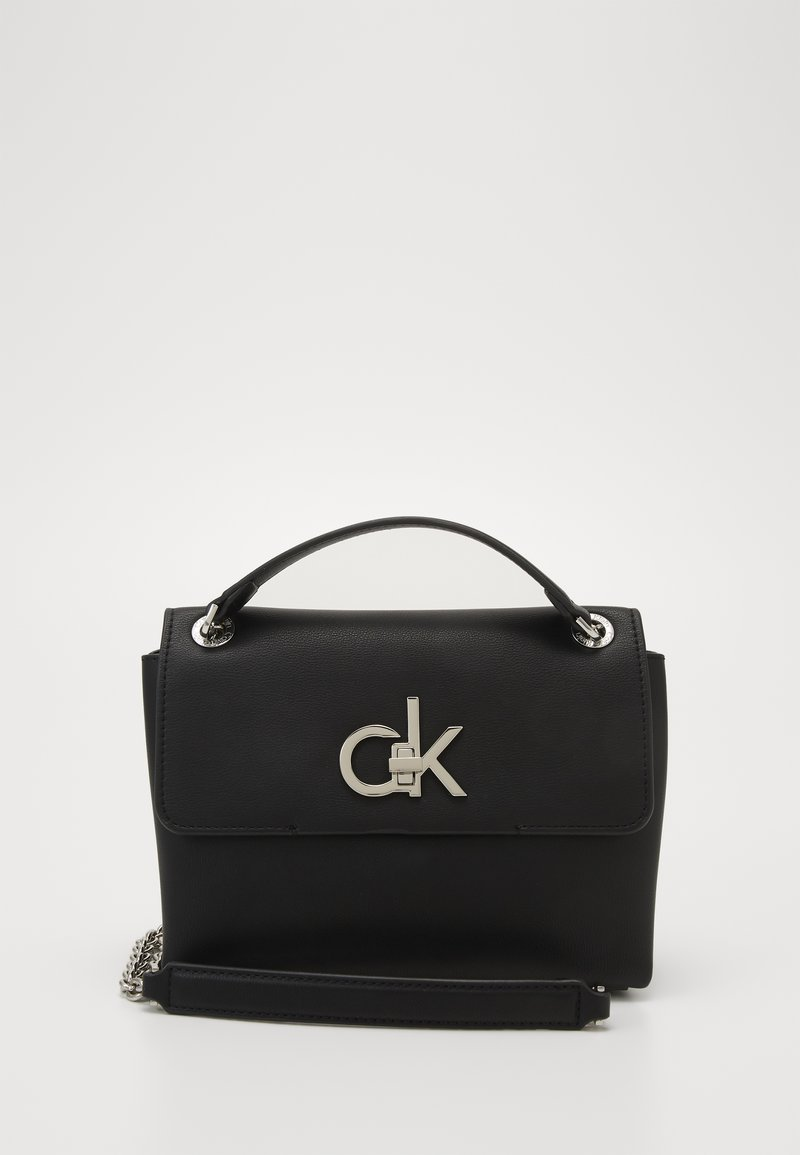 Calvin Klein - FLAP XBODY - Across body bag - black