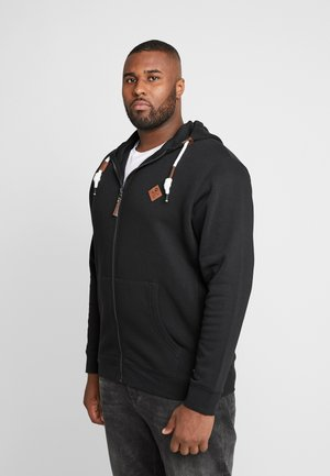 QUINBY PLUS - Zip-up hoodie - black