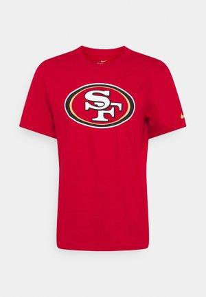 NFL SAN FRANCISCO 49ERS LOGO ESSENTIAL - Klubové oblečení - gym red