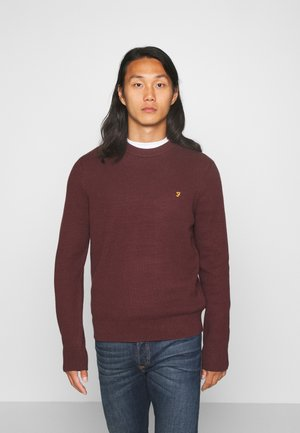HORACE CREW - Jumper - burgundy