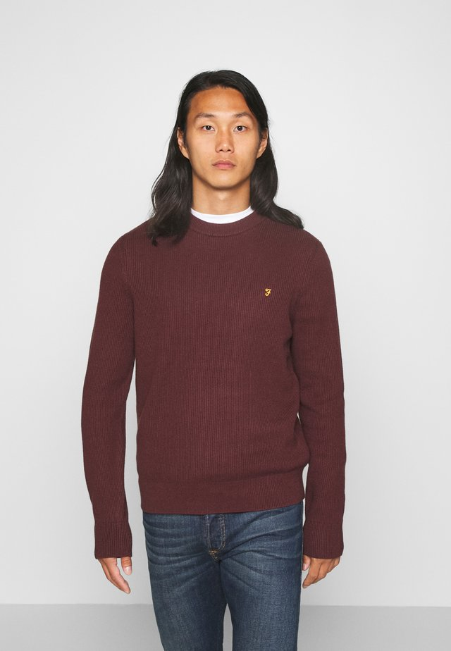 HORACE CREW - Maglione - burgundy
