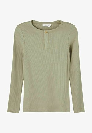 NKMKABILLE SLIM - Long sleeved top - silver sage