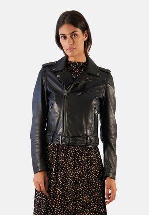 POWER - Leather jacket - blue