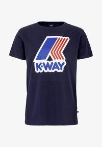 K-Way - PETE MACRO - Print T-shirt - deep blue - 6