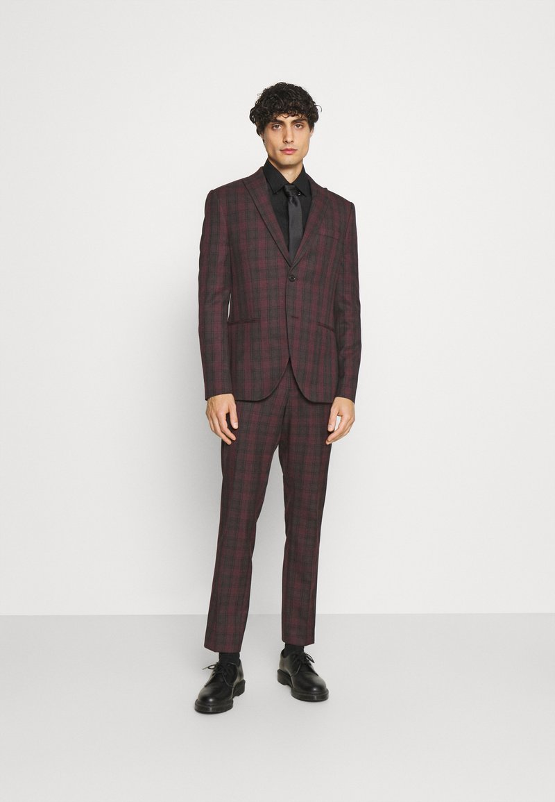 Isaac Dewhirst - SINGLE BREASTED TARTEN SUIT SET - Completo - red