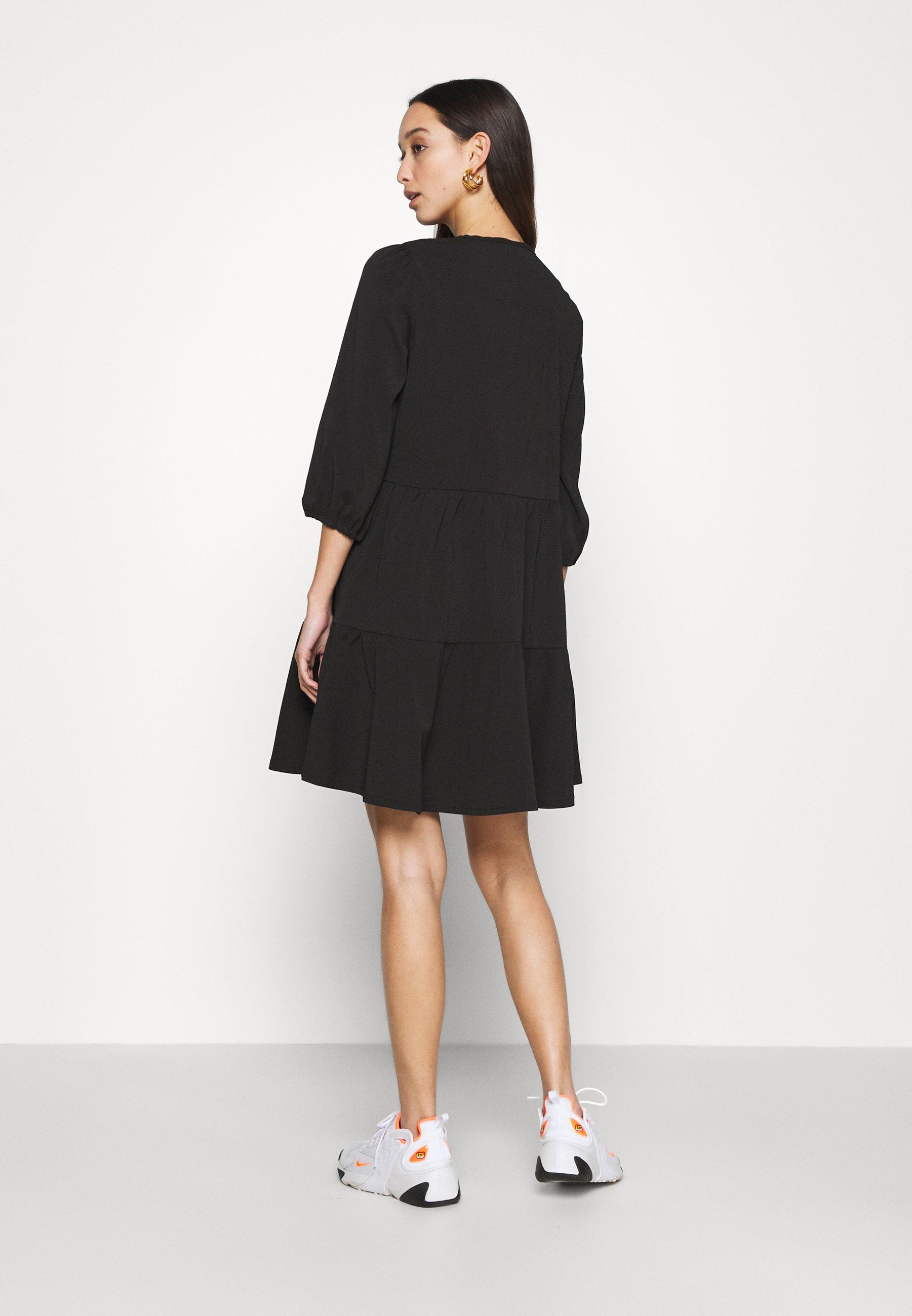 Noisy May NMLIVE 3/4 SHORT DRESS Freizeitkleid black/schwarz