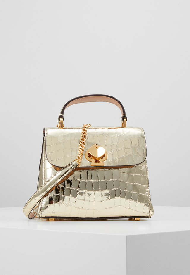 ROMY MINI TOP HANDLE CROC - Handtasche - gold