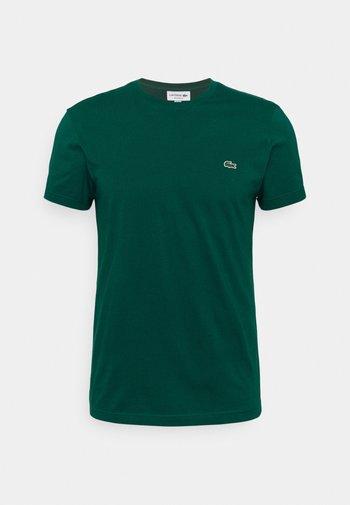 Jednoduché triko - dark pine green