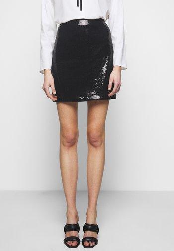 ROMMIE - Mini skirt - black
