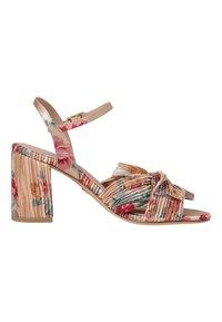 Tamaris - High heeled sandals - beige flower - 4