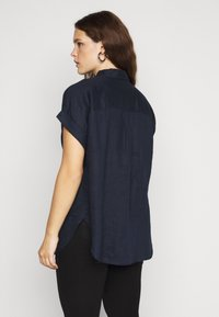 Lauren Ralph Lauren Woman - BROONO SHORT SLEEVE - Button-down blouse - navy - 2