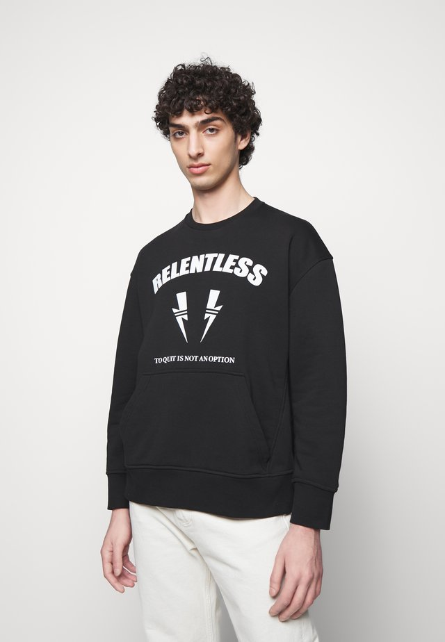 RELENTLESS SPORT BOLTS - Sweatshirt - black/off white