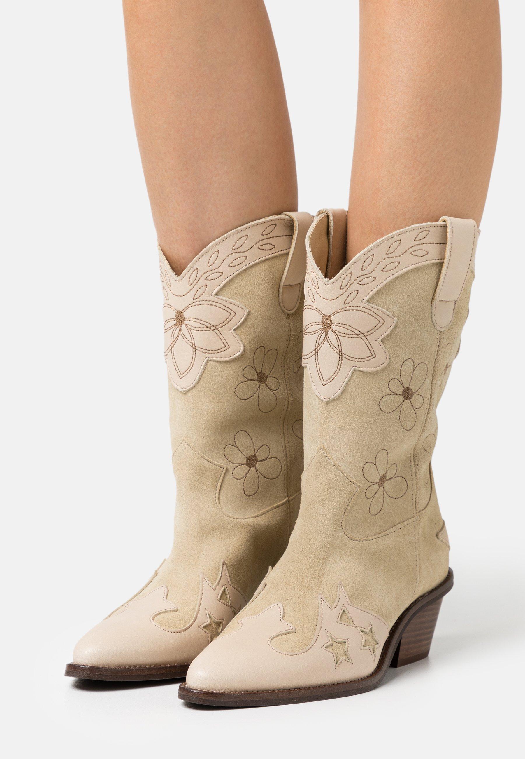 Women HOLLY MID HIGH FLOWER SPECIAL - Cowboy/Biker boots