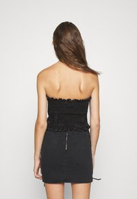 Topshop - FRILL MILKMAID CORSET - Top - washed black - 2