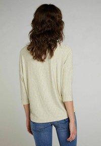 Oui - Blouse - lt grey yellow - 2