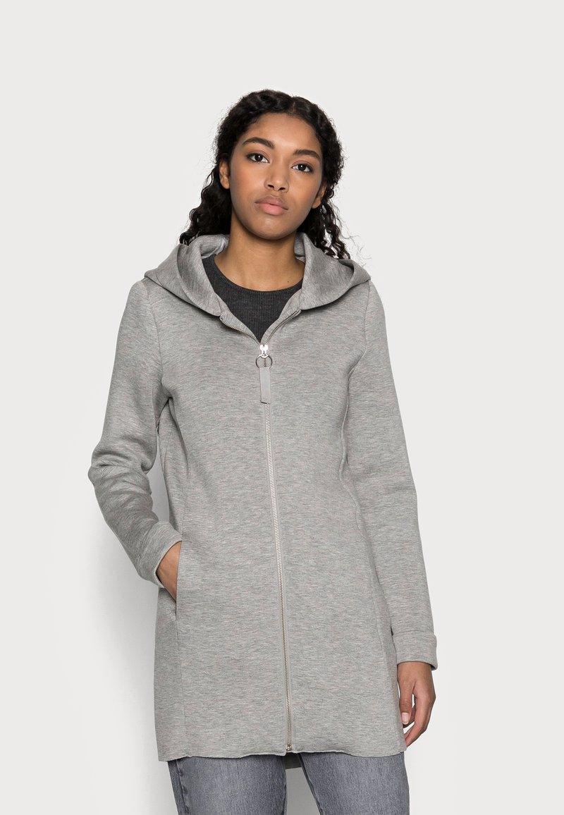 ONLY Petite - ONLLENA HOOD COAT PETIT  - Zip-up hoodie - light grey melange