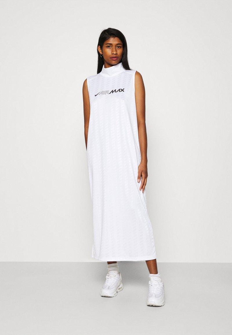 Nike Sportswear - DRESS - Maxi dress - white/white/black