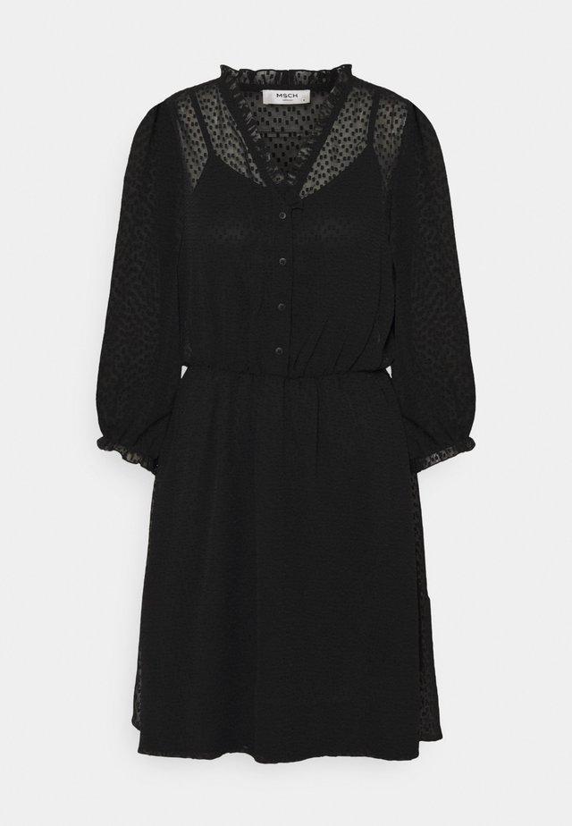 AYELLA DRESS - Denní šaty - black