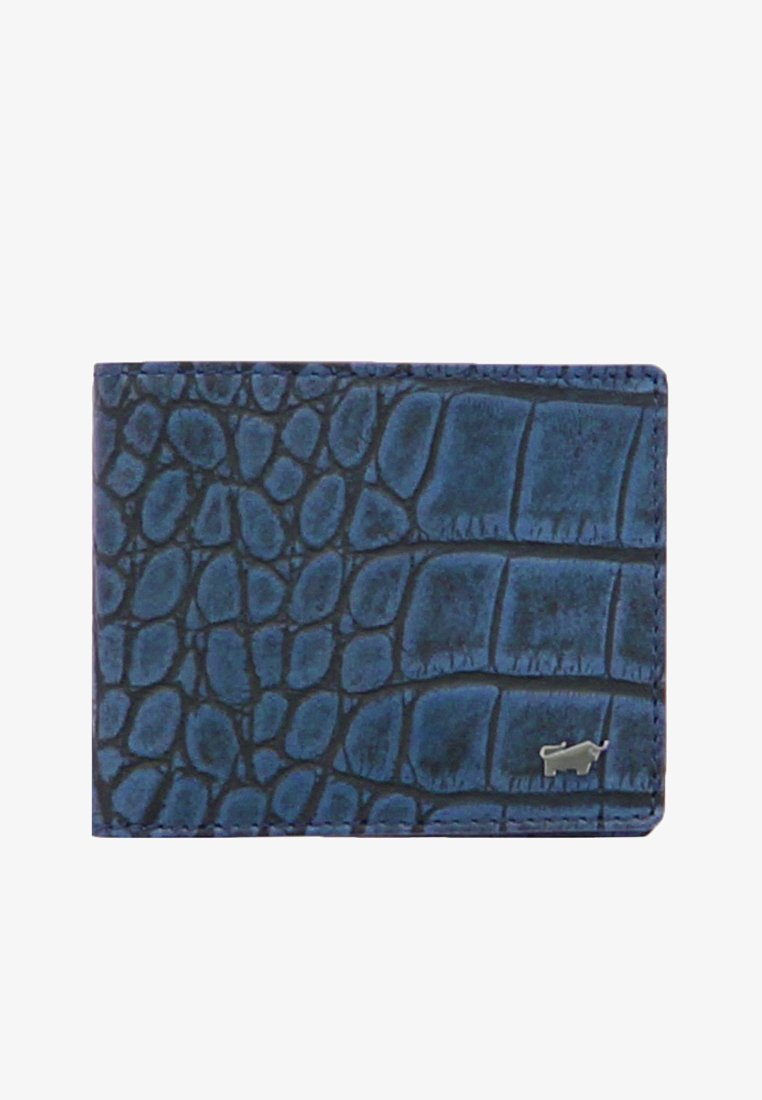 Braun Büffel - LISBOA IN REPTILIEN-OPTIK - Wallet - blue