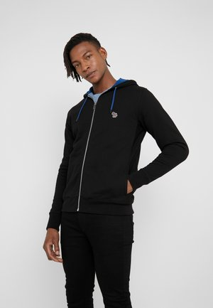 HOODED ZIP - Felpa aperta - black