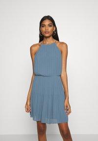 Samsøe Samsøe - MYLLOW SHORT DRESS - Koktejlové šaty/ šaty na párty - blue mirage - 0