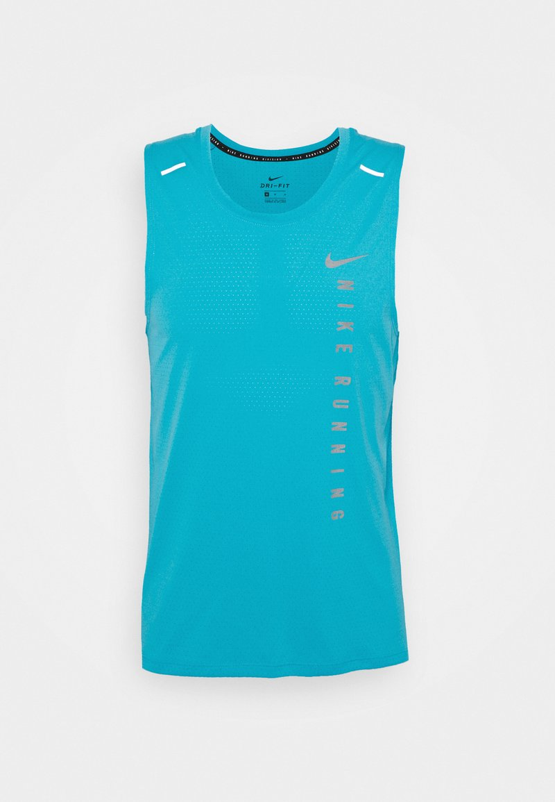 Nike Performance - MILER TANK HYBRD - Top - chlorine blue/silver