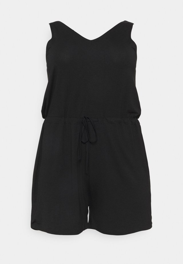 PCNEORA V NECK - Jumpsuit - black