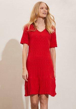 Jumper dress - scarlet red