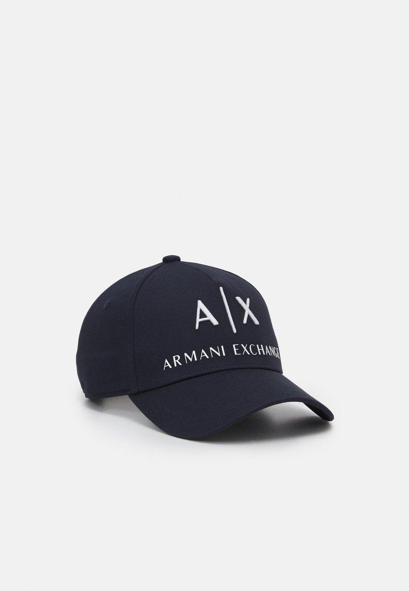 Armani Exchange - CORP LOGO HAT UNISEX - Cap - blu navy/bianco