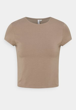 PERFECT CROPPED TEE - T-shirts - nougat