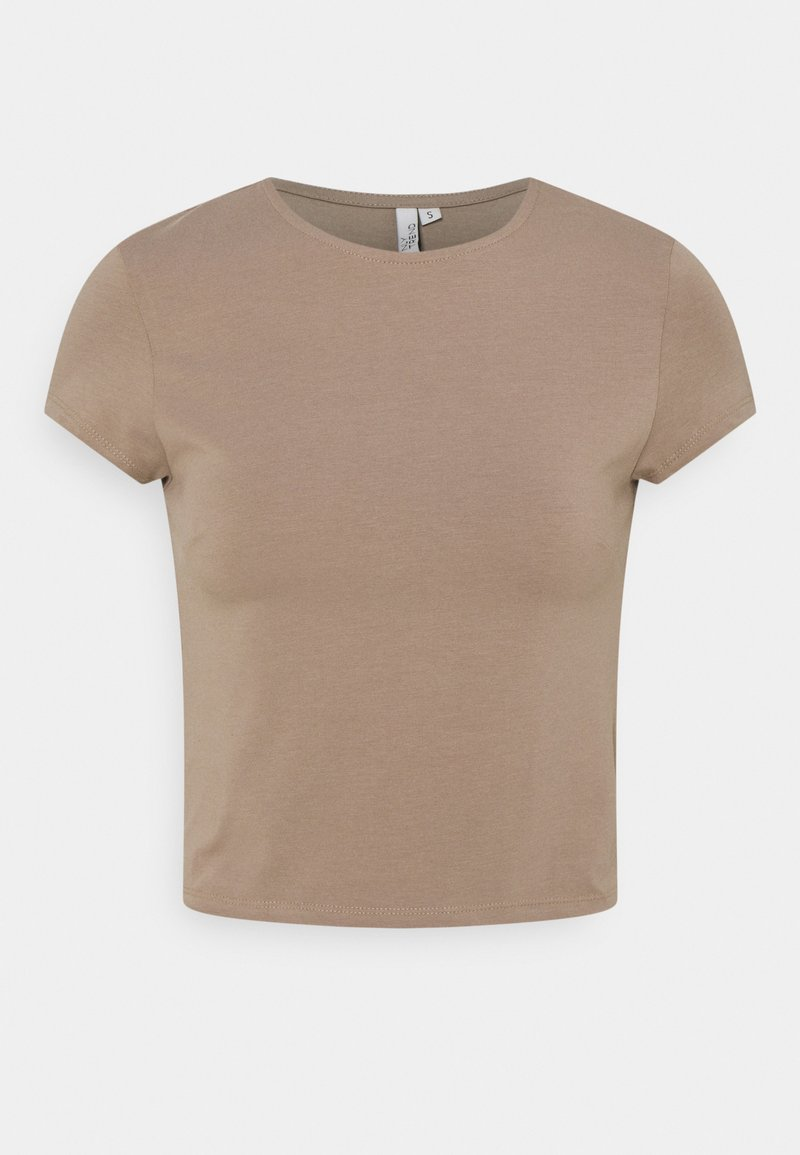 Nly by Nelly - PERFECT CROPPED TEE - Basic T-shirt - nougat